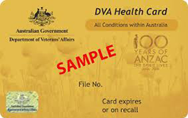 Department of Veterans Affairs Health Card - Gold