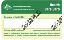 Centerlink Health Care Card