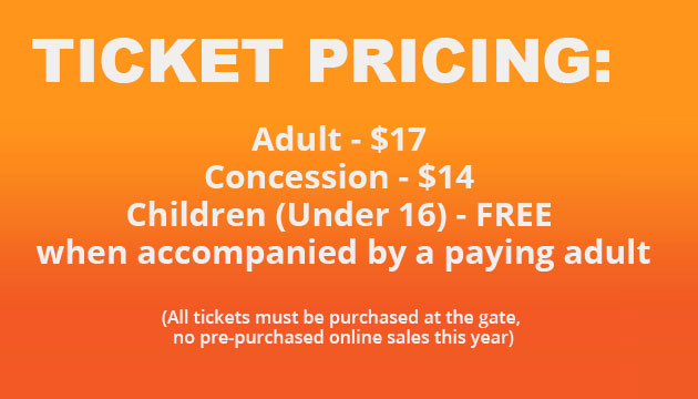 Tickets at the gate pricing